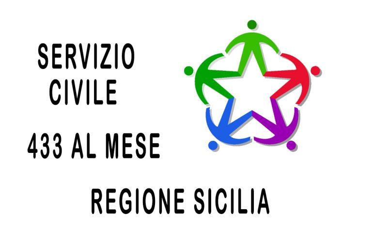 Regione Sicilia: 1153 posti per servizio civile – 433 euro/mese per 12 mesi